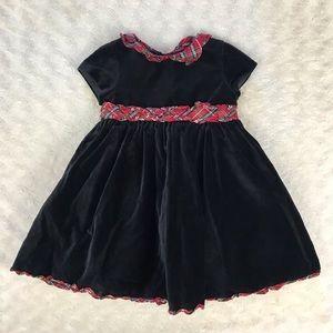 Laura Ashley Holiday Dress Size 18 Months Black